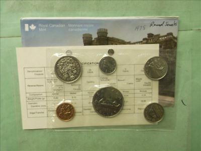 Canada 1978 Proof Like Set with Envelop+COA 50c is Round Jewel