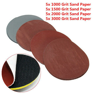 20x/Set 1000/1500/2000/3000 Grit Sand Paper Pad Sanding Discs Wheel Hook Loop AA