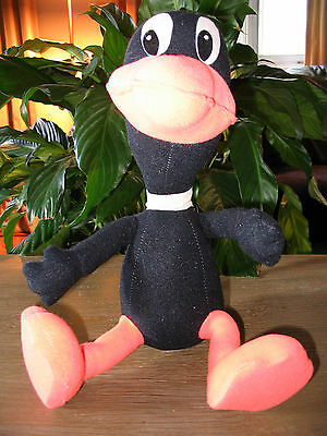 Vintage Looney Tunes Plush Daffy Duck Bendable Doll Toy from Warner Bros. (1974)