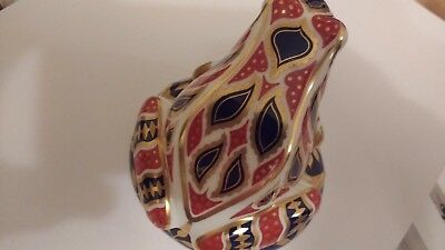 Royal Crown Derby Imari Porcelain Frog Paperweight