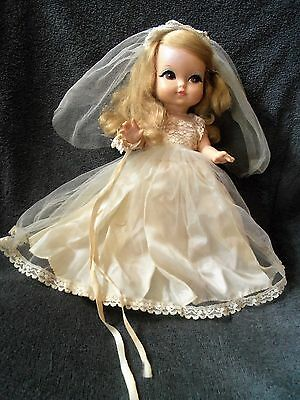 VINTAGE ~JOY ~ A ROYAL DOLL  ~ wearing  ORIGINAL WEDDING GOWN & SHOES ~ NICE!