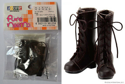 AZONE Pure Neemo 7 hole lace-up Brown Boots - brand new / unopened - AKT107-BRN