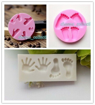 Cute Baby Shower Fondant Chocolate Decor Silicone Mold Sugarcraft DIY Cake Mould