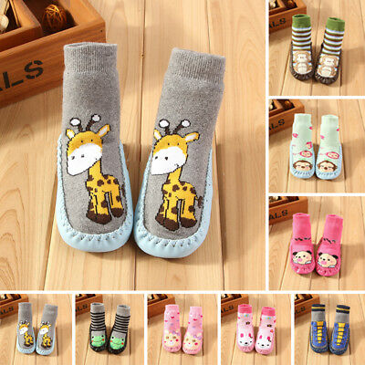 Cute Cartoon Warm Baby Kids Anti-slip Crawling Socks Shoes Toddler Slipper Boots
