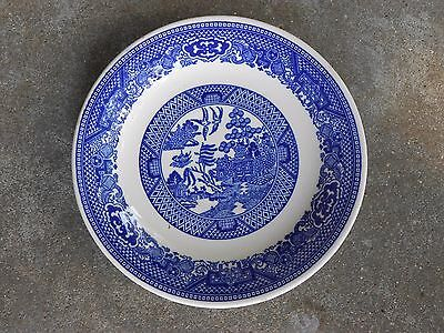Vintage Blue WILLOW  Saucer   Unmarked