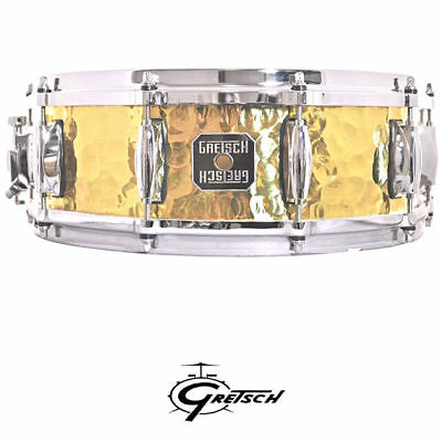 Display Clearacne Gretsch 14 x 5 inch Hammered Brass Shell Snare drum Stop Sign