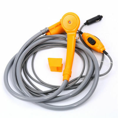 12V DC Car Washing Machine Portable High Pressure Water Pump Outdoor Shower Set