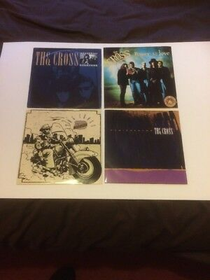 "The Cross  7"" Singles 4 X 7"" Singles  All Picture Sleeves,"