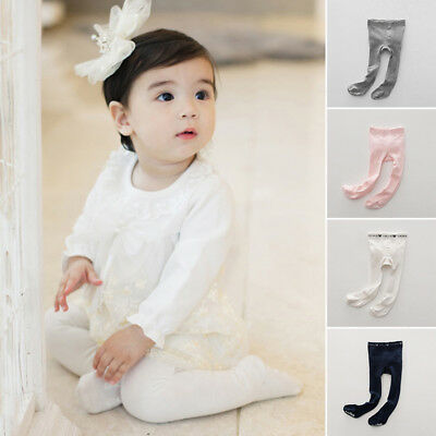 Lovely Toddler Baby Girl Anti-slip Cotton Solid Color Pants Leggings Pantyhose