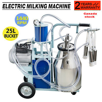 Electric Milking Machine For Farm Cow+ Bucket Vacuum Piston Pump On Discount
