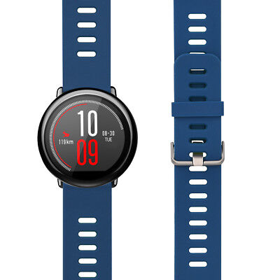 kwmobile SILICONE SPARE BRACELET FOR XIAOMI HUAMI AMAZFIT DARK BLUE FITNESS