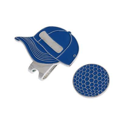 Metal Cap Magnetic Golf Ball Marker and Hat Clip Golfer Gift - Blue