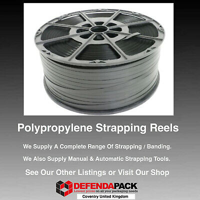 1 x 180kg 12mm x 1500m Polypropylene PLASTIC PALLET STRAPPING BANDING REELS COIL