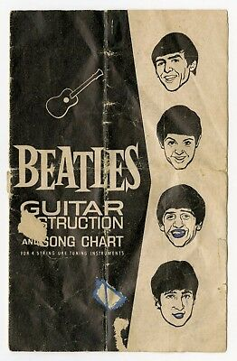 The Beatles 1960s Selcol UK Guitar Instruction Booklet