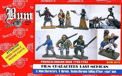 B.U.M SERIE 1/72 - FRENCH-INDIAN WAR - LAST MOHICAN - Characters - BOX RARE