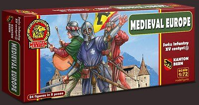 SOLDATINI 1:72 - MEDIEVAL Swiss infantry of the 15th century. SET 2 Bern canton