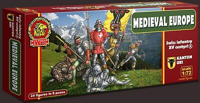 SOLDATINI 1:72 - MEDIEVAL Swiss infantry of the 15th century. SET 1 Uri canton