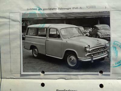 Morris  Oxford   Iii  1957  Typenschein!!!