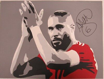 "Ashley Williams Signed Collectable Wales Football Painting 18""x24""- WFTA 11"