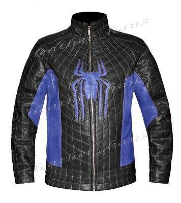 The Amazing Spider Man 2 Stylish Genuine Leather Biker Bomber Costume Jacket 527