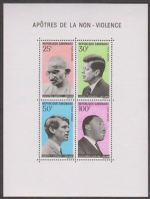 Gabonaise Non - Violence 4 Values Mint Ms With Gandhi Kennedy Martin Luther King