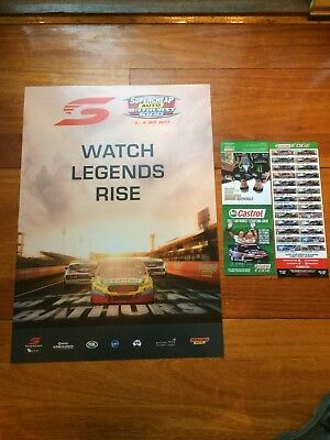 2017 BATHURST 1000 V8 SUPERCARS EVENT POSTER with GRID CARDS