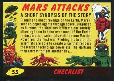 Mars Attacks The Revenge Black [55] Base Card #55 Checklist