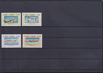 054853 Fische Fish Cabo Verde 677-80 ** MNH Year 1994