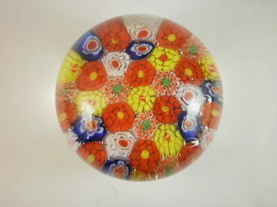 Millefiori Glass Small Paperweight