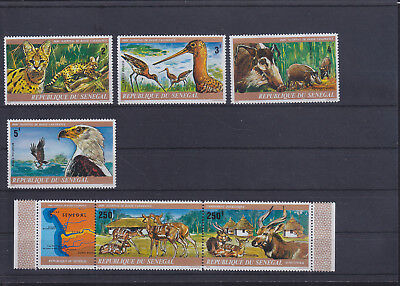 054862 Vögel Birds Senegal 583-88 ** MNH Year 1976