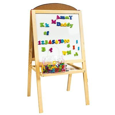 MAGNETIC DOUBLE-SIDED EASEL by LEOMARK NEW BLACK & WHITE BOARD WITH LETTERS