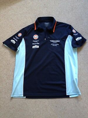 USED 2012 ASTON MARTIN RACING GULF Le MANS POLO Size = MEDIUM EX CREW