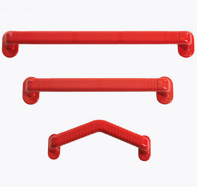 Drive Medical Dementia Friendly Red Angled Grab Rails with Non-slip Grip