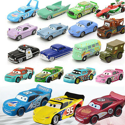 Cars 3 Pixar 1:55 Metal Diecast Chick Hick Mcqueen Sally Mater Kids Toy