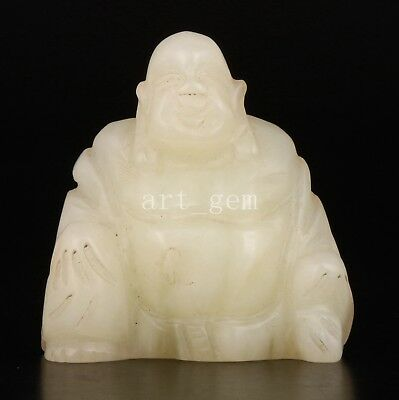 Jade Figurine Sitting Buddha Statue Authentic Chinese Gift Collection
