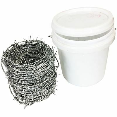 30M/60M/120M Barbed Wire Tub Packs 4 Tipped Barbs Barded Fencing Wire Security