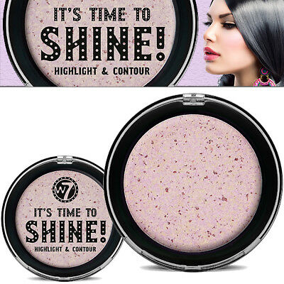 W7 Makeup Its Time to Shine Face Highlighter & Contorno Púrpura Pressed Polvos