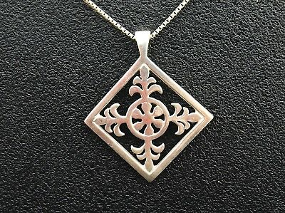Sterling Silver necklace by ORTAK  Cross or Snowflake design   Scottish