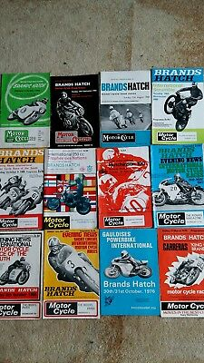 12 x Brands Hatch Motorcycle programmes