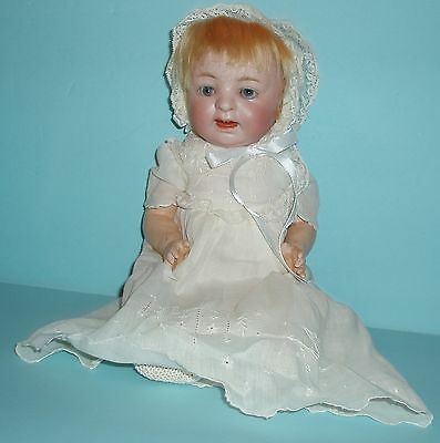 Morimura Bros. Japan Bisque Head Baby Doll, Composition body, Blue Glass Eyes