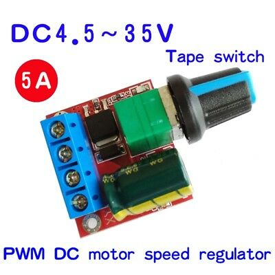 Mini 5A DC Motor PWM Speed Controller 4.5V-35V Speed Control Switch LED Dimmer