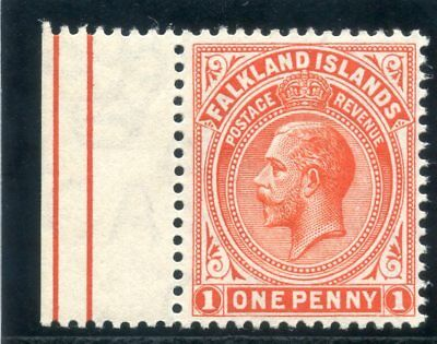 Falkland Islands 1912 KGV 1d orange-red superb MNH. SG 61. Sc 31.