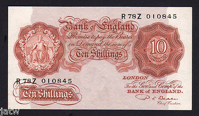 GREAT BRITAIN P-368b. (1949-55) 10 Shillings.  Beale.. Brown  aU-UNC