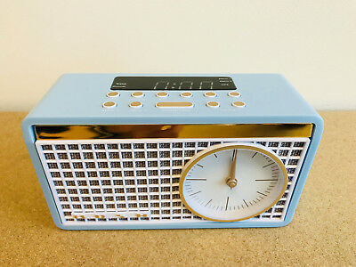 S152 Bush Classic Retro Analogue Clock Radio Blue Fm Radio Digital Time Wo322
