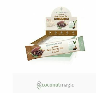 12 x 45g COCONUTMAGIC Coconut Magic Raw Energy Bars Cacao 12x45g