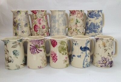 """Lord Nelson Ware Shabby Chic / Vintage Style Ceramic Victorian 8.75"""" Jug Various"""