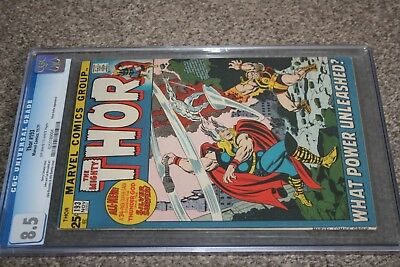 Mighty Thor #193_November 1971_Cgc Graded 8.5_Silver Surfer App_Bronze Giant!
