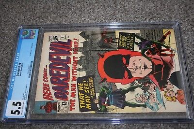 DAREDEVIL #9_AUGUST 1965_CGC GRADED 5.5_1st APPEARANCE THE ORGANISER_WALLY WOOD!