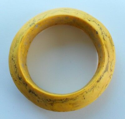 Rare Ancient SE Asian Yellow Blown Glass Bangle - 4""