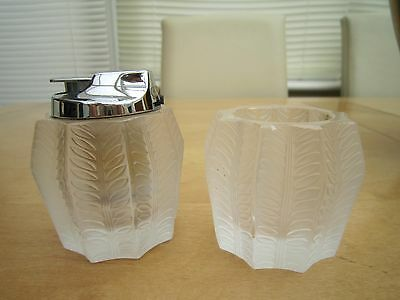 Lalique lighter and match safe 1920s both signed
